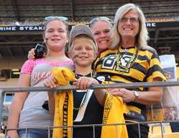 Check out photos Steelers fans before Saturdays game at Heinz Field.