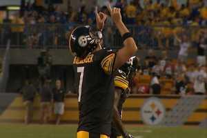 QB Ben Roethlisberger celebrates a touchdown!