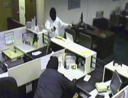 Shaler Township police are searching for two masked men who robbed a bank on Wednesday morning.