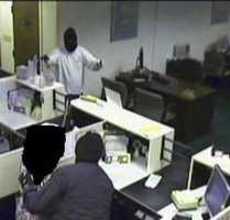 The robbery happened at the Allegheny Valley Bank in the 900 block of Mt. Royal Boulevard when the two men entered through a rear door about 10 a.m. and ordered the staff to the floor, police said.