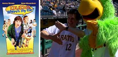 """The """"Z""""Hal Sparks' Zoltan character in """"Dude, Where's My Car?"""" is the inspiration for the hand sign that today's players make after every big hit. This 2000 comedy movie got awful reviews, but the Bucs were equally bad that year, losing 93 games."""