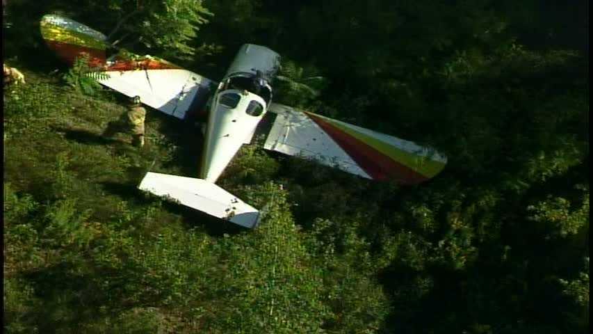 small plane lands in field 03