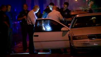 The shot-up car was found on Formosa Way in Homewood.