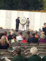 Secretary of the Interior Sally Jewell and Gordon Felt, the president of the Families of Flight 93, laid a wreath at the 9/11 anniversary in Shanksville.
