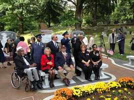 Here are some pictures of the dedication ceremony that were taken by Rege Bobonis. His father, Regis Sr., is a former editor of the Pittsburgh Courier and a local historian who's known for his extensive research of the Tuskegee Airmen.