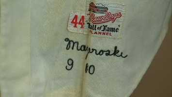 "Mazeroski said the uniform -- which went for $633,000 at auction -- had been sitting around collecting mothballs for years and he felt it was time to ""share it with the public."""