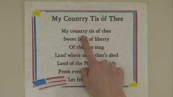 """The kids learned about """"My Country, 'Tis of Thee."""""""