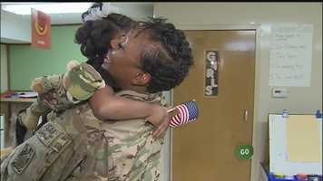 Jada was thrilled to see her mother and share a big hug after so much time apart.