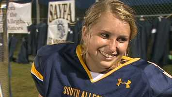 """It just keeps getting better and better,"" said Lewis after she was crowned homecoming queen at Friday's game."