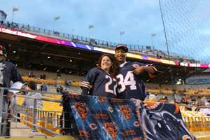 Even some Bears Fans from across the region filled Heinz Field for the Steelers vs Bears game for prime time Sunday Night Football. (Photo by Maggie Nagle/WTAE-TV)
