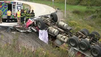 Beaver County 911 said the accident happened near Wallace Run Road at about 1:50 p.m.
