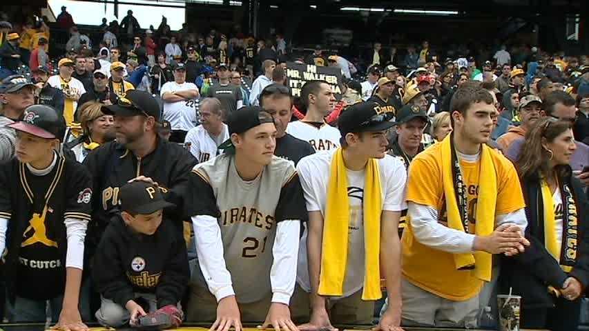 Pirates fans at PNC Park