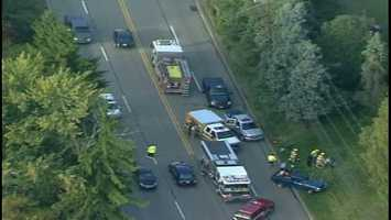 The collision happened on Route 8, near an Atria's restaurant and a Rite Aid.