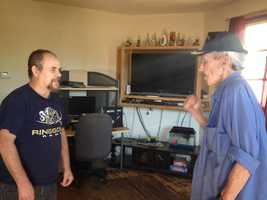 """""""I went off the side of the road, got my head all back together and saw I was in the woods. I was stuck,"""" Conrad said. """"I knew I was on 51, so I got on the CB radio and started yelling for help. This man, he heard me."""""""