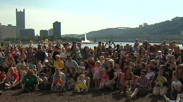 Parents celebrate children's progress after hospital stays