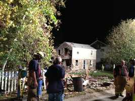 Two people were hurt Saturday when a house exploded on Charlton Heights Road in Moon Township.