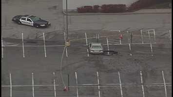 Penn Center parking lot in Wilkins Township