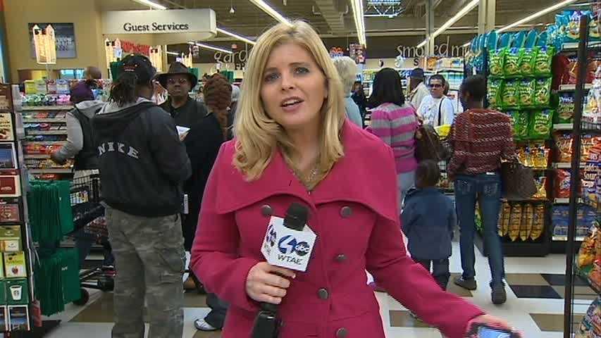 Amber Nicotra at Shop 'n Save