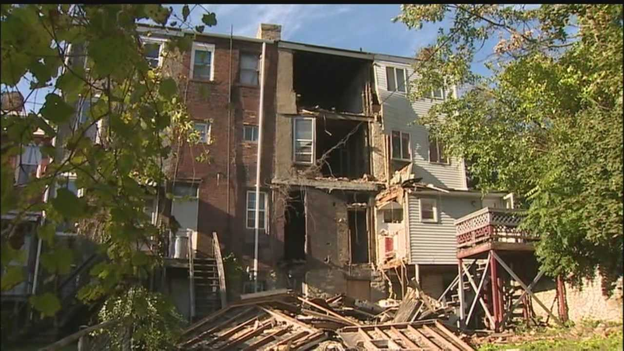 Woman, 93, narrowly misses house collapse next door in Hill District