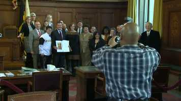 "Pittsburgh City Council declared Tuesday ""Pirates Day"" in the city."