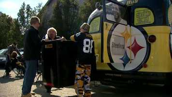"""And then of course on the back of the bus, it is a bus, we have Jerome ('the Bus' Bettis)."""