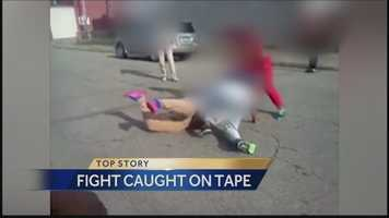 Pittsburgh police said a street fight among teenage girls, and also involving a woman, was recorded on cellphone video in the city's Elliott neighborhood.