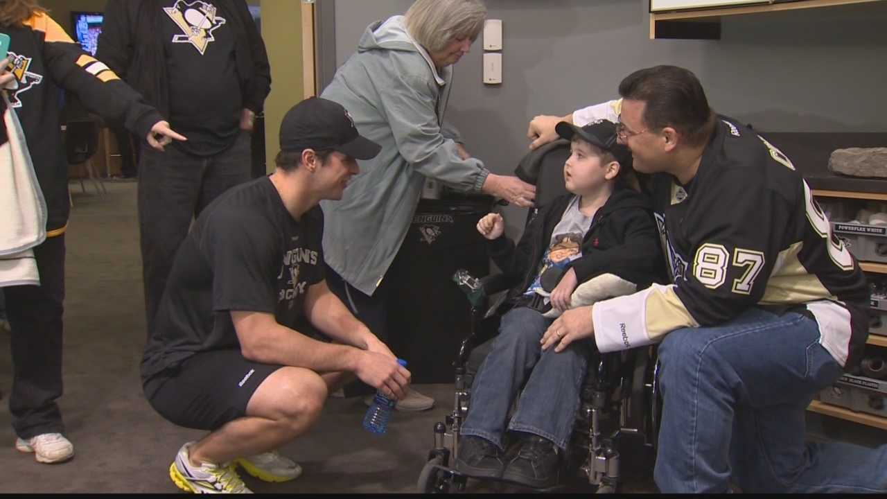 Sidney Crosby meets Matthew Jacko