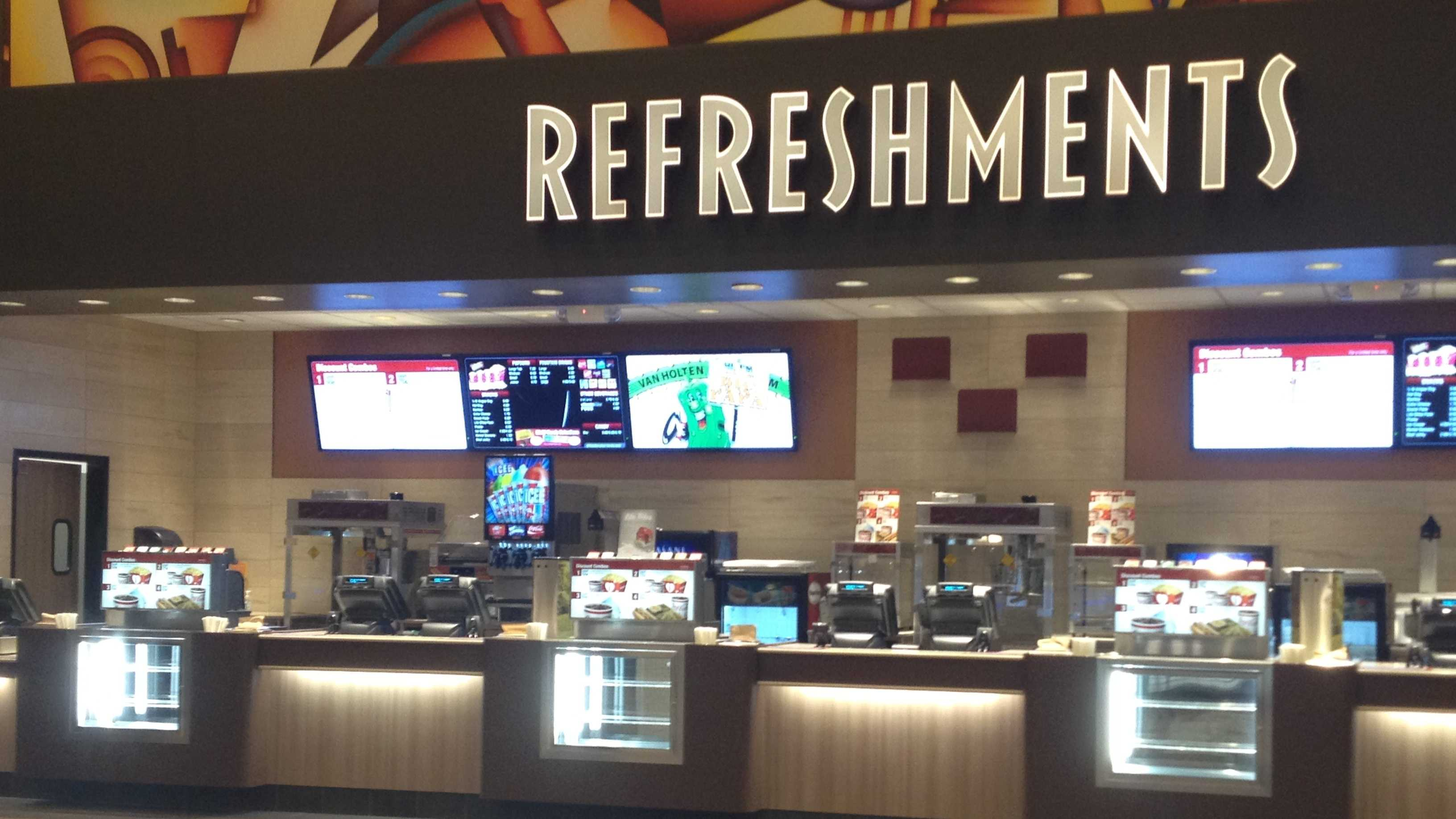 Movie theater refreshments