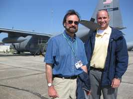 """Ray once """"tagged along"""" on a training mission with the Hurricane Hunters."""