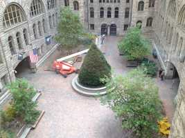 A tree will also be put on display for the holidays in the courtyard of the Allegheny County Courthouse.