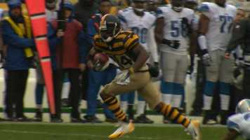 Antonio Brown takes off down the sidelines