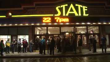 """Pro Wrestlers vs Zombies"" held its red carpet premiere at the State Theatre Center for the Arts in Uniontown on Friday night."