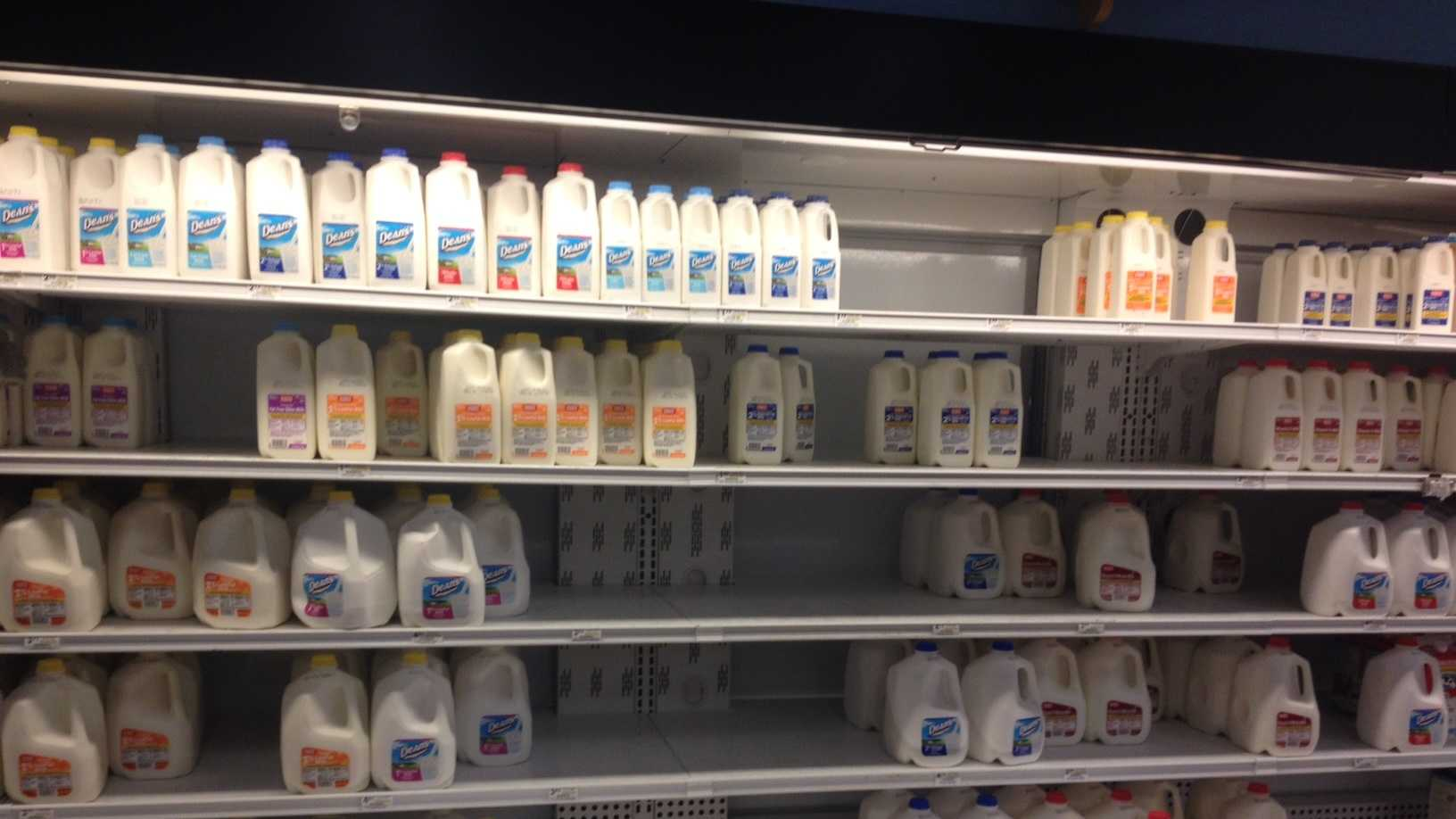 Milk shelf at Giant Eagle