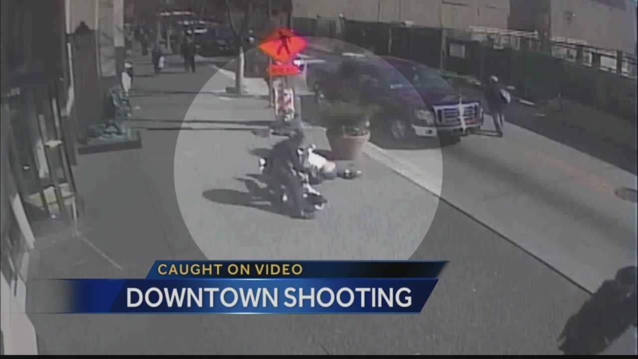 img-Video shows downtown fight shooting