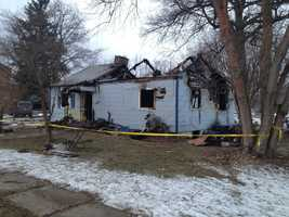Investigators say two people were inside the home on Pine Grove Road when the fire started early Sunday evening.