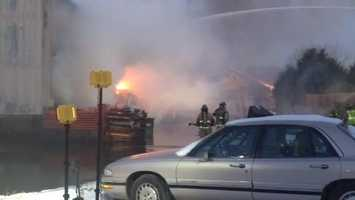 Fire at Accent Fuels in Homer City