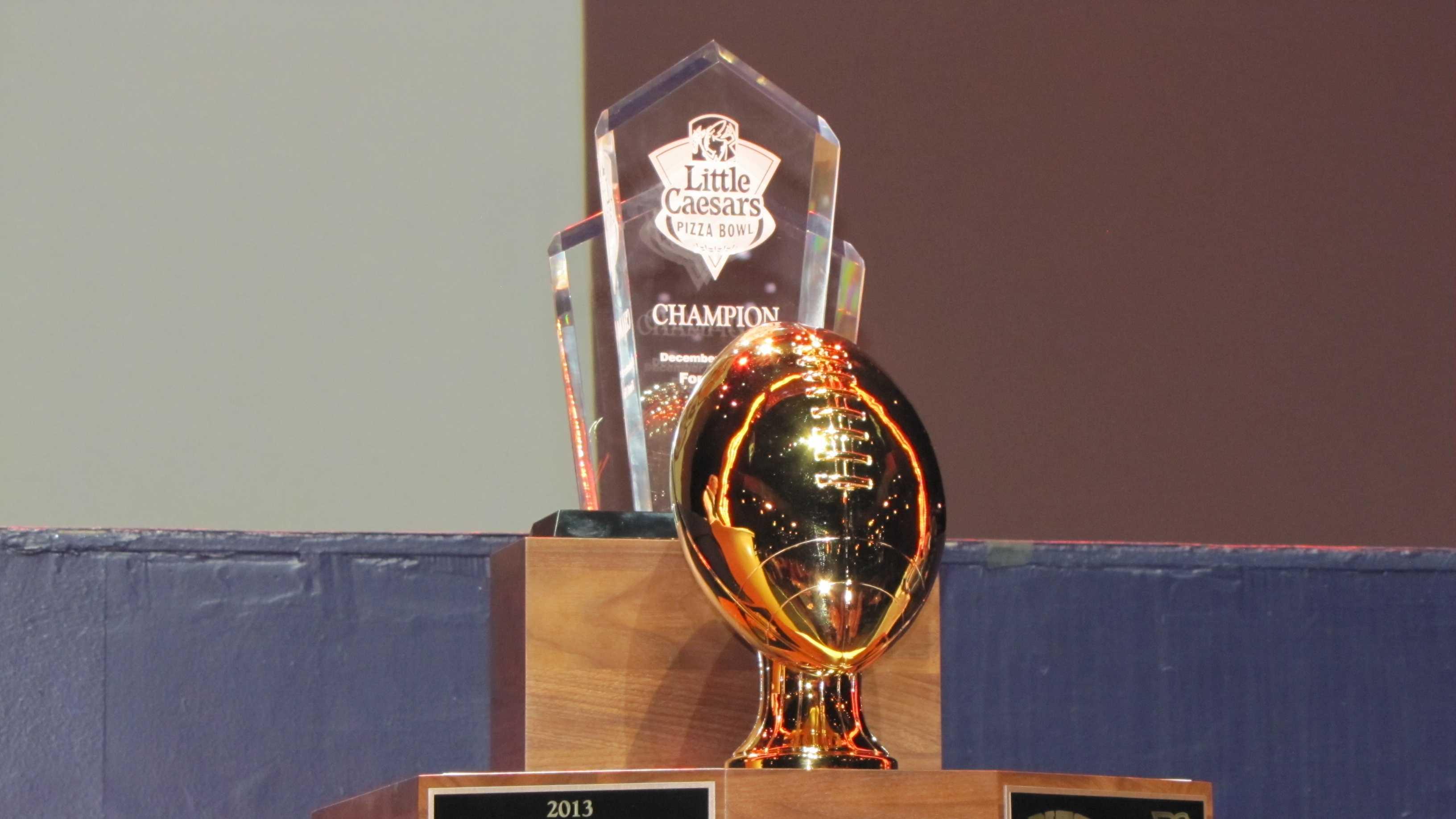 Little Caesars Pizza Bowl trophy