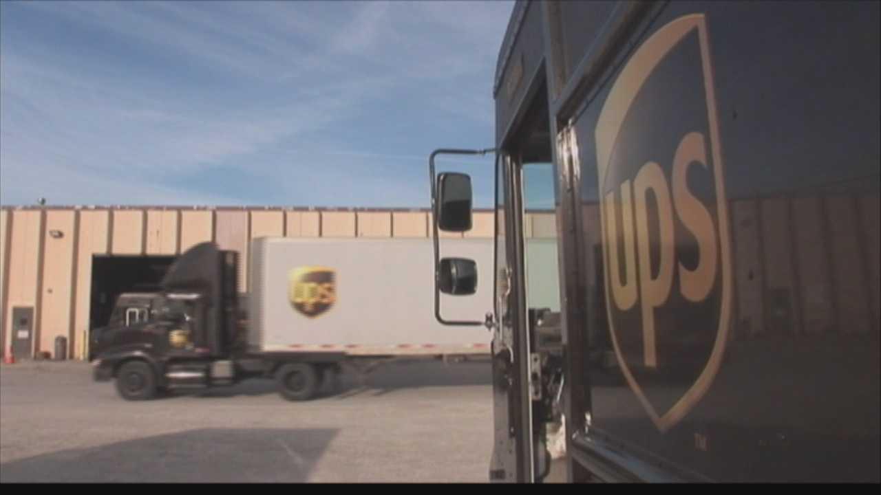 UPS trucks
