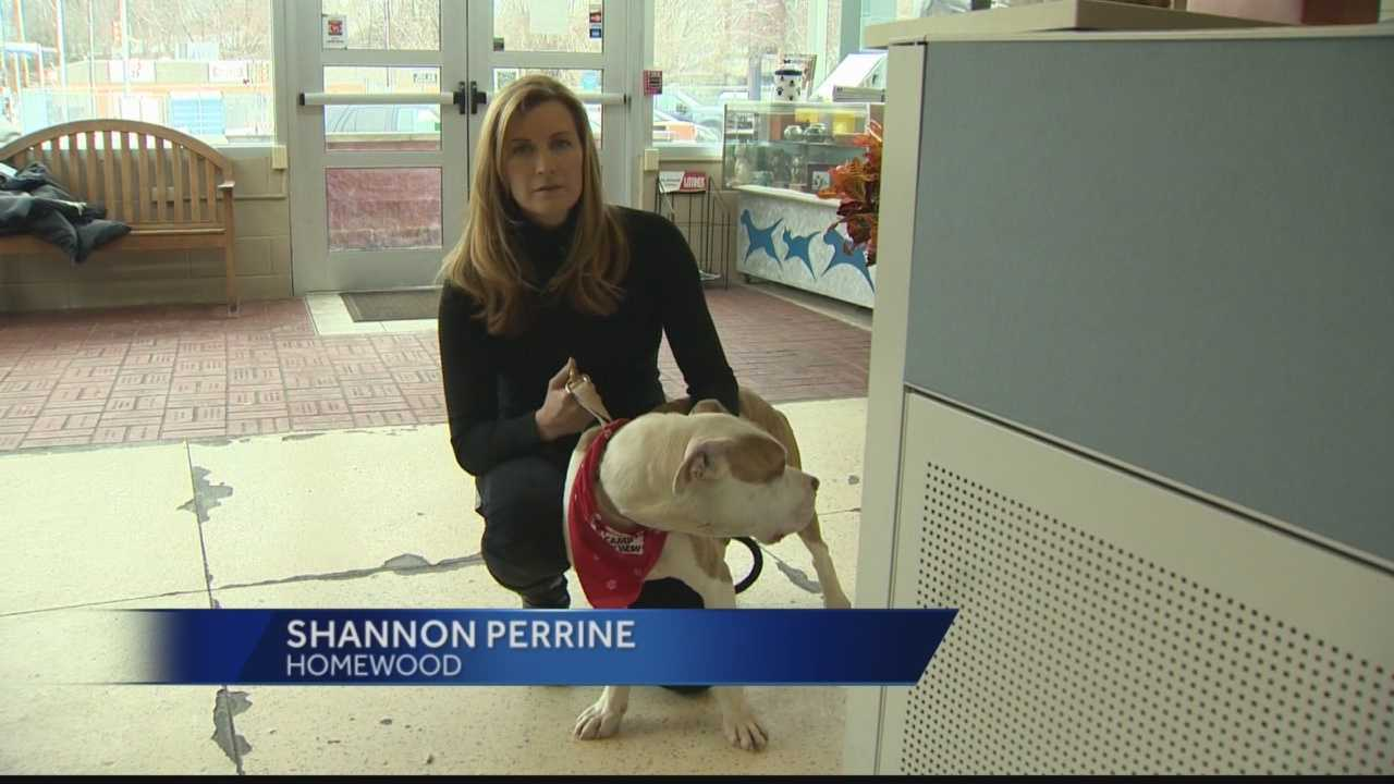 Shannon Perrine with dog