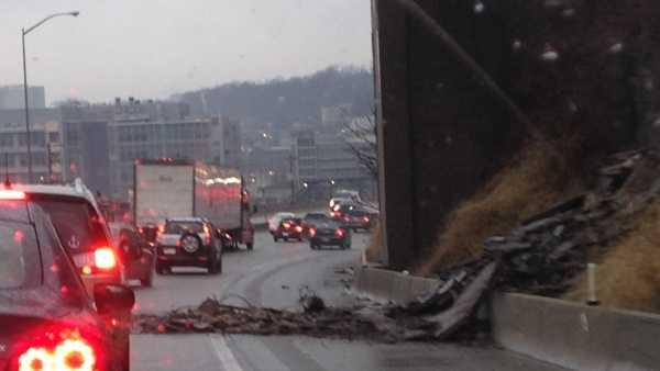 Parkway East mudslide