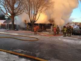Firefighters braved bitter cold temperatures to battle two house fires in Aliquippa.