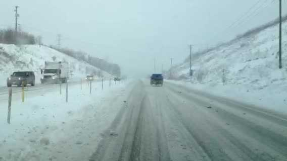 Snow on Route 22