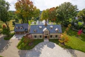 This beautiful home in Sewickley Heights includes four bedrooms, six bathrooms and is situated on eight acres. It's on the market for $4.05M and is featured on realtor.com.