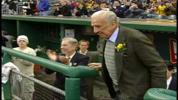 Ralph Kiner returned to Pittsburgh to be honored before the 2003 season opener at PNC Park.