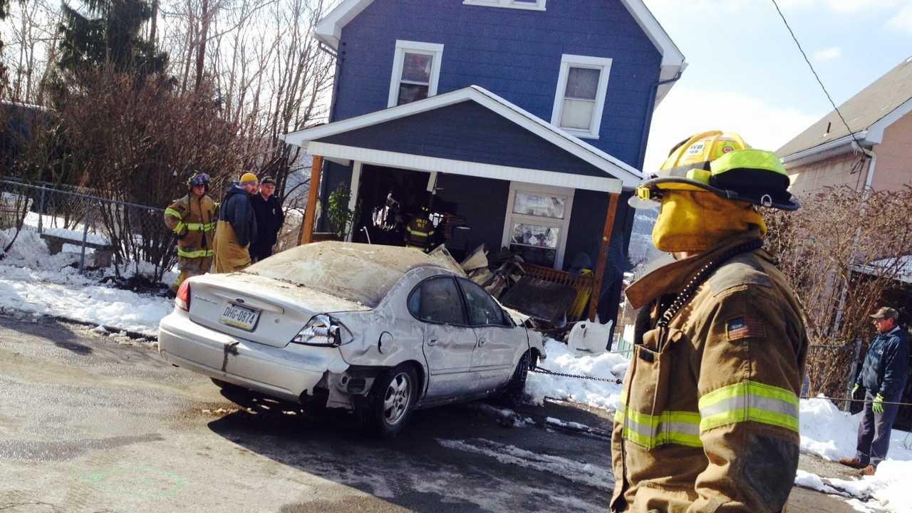 Car crashes into house