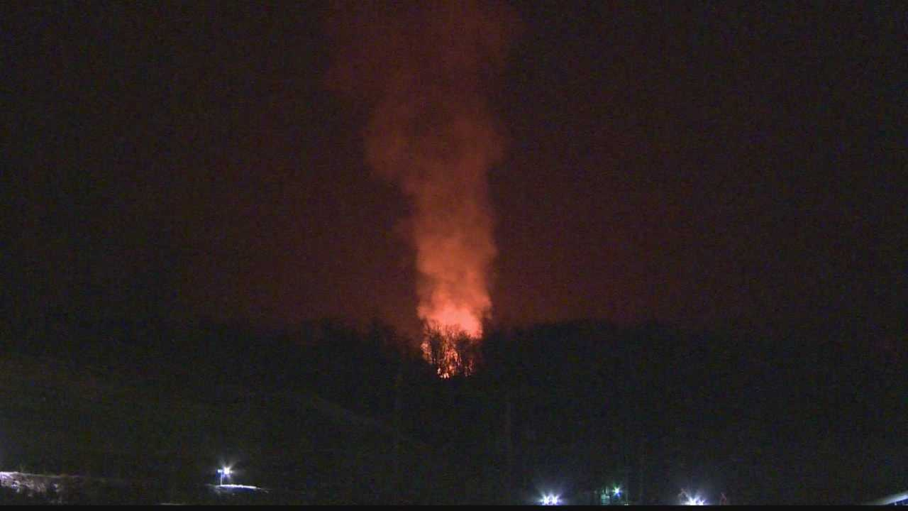 img-One fire out second still burning at natural gas well in Greene County