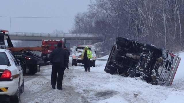 Armored truck crash