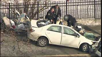 Police said Jill Trayter's car hit a pickup truck that was hauling a trailer.