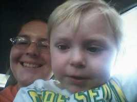 Jill Trayter and her son, Calin.