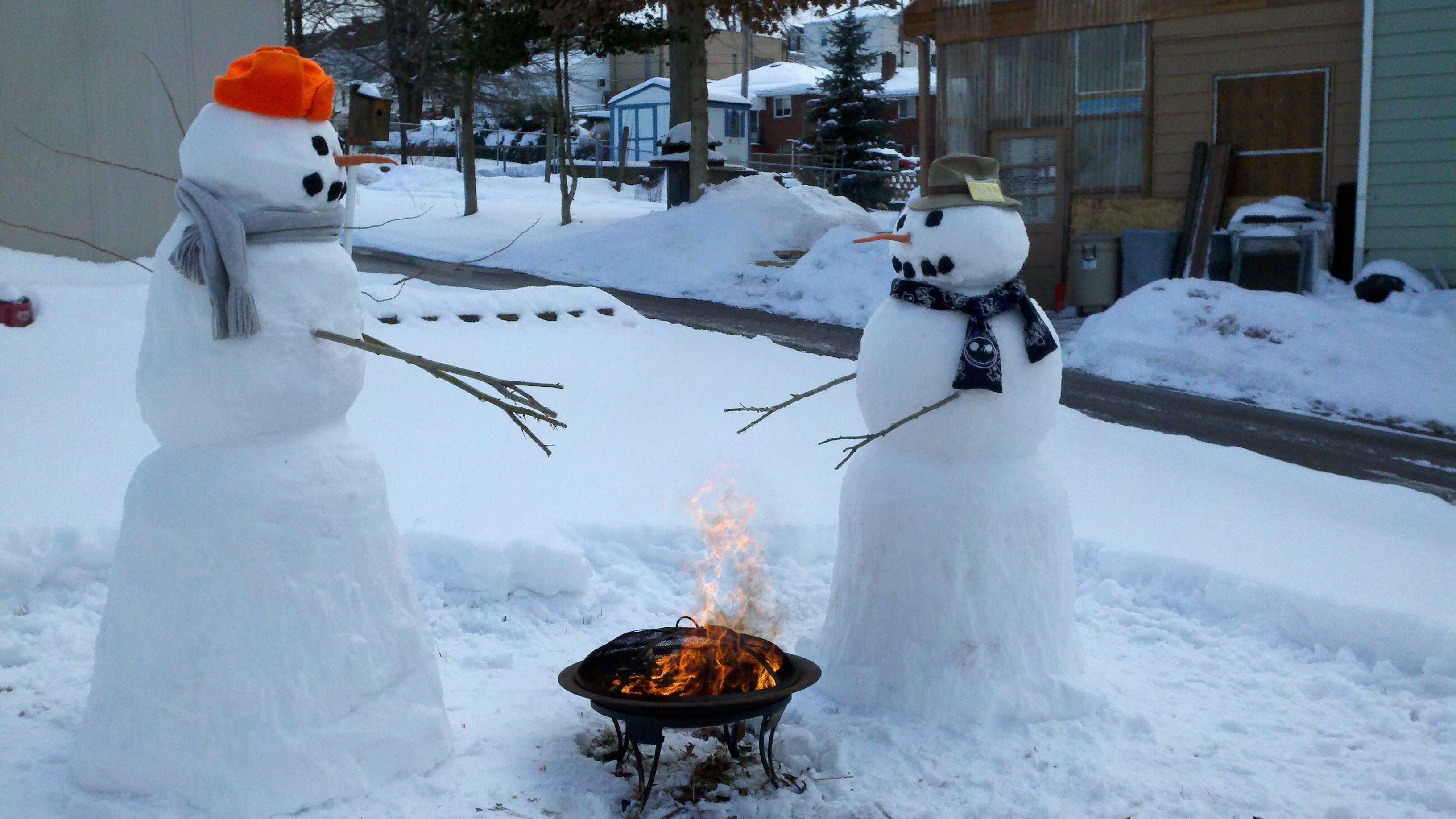 Snowman fire